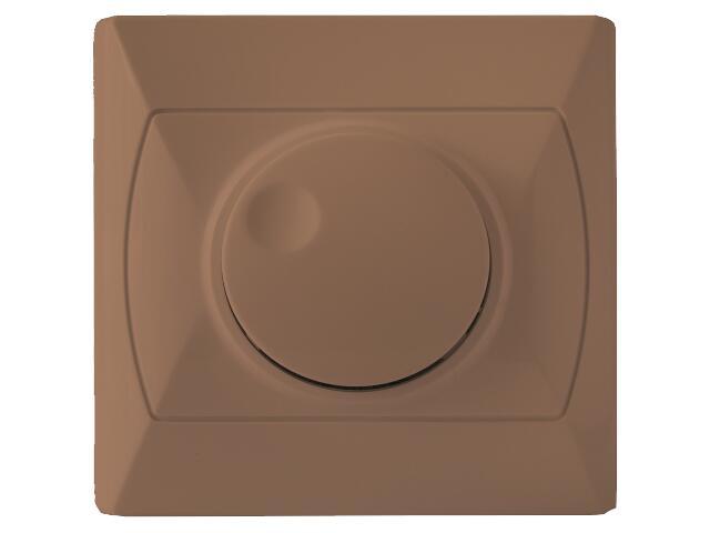 Ściemniacz AKCENT przyciskowo-obrotowy do żarówek brązowy Ospel