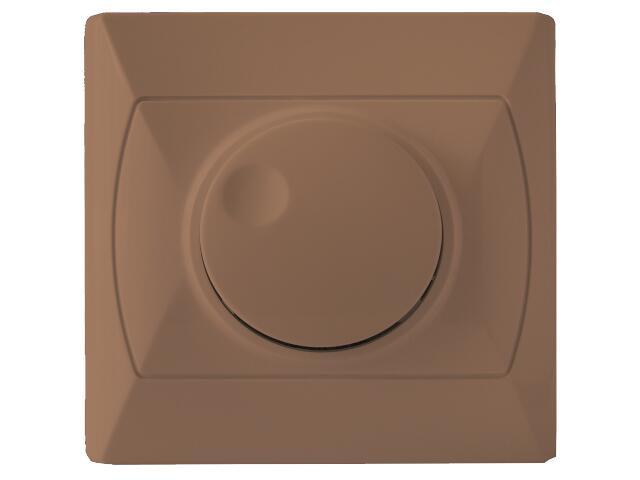 Ściemniacz AKCENT przyciskowo-obrotowy do żar/halog. brązowy Ospel