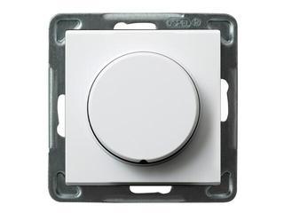 Ściemniacz do modułu SONATA przyciskowo-obrotowy biały Ospel
