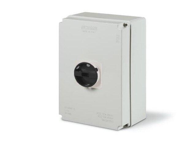 Łącznik krzywkowy w obudowie ISOLATOR 125A 4P IP55 skrzynka standardowa Scame