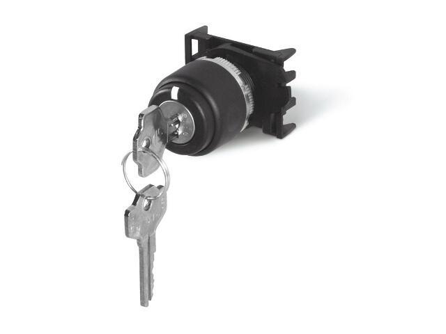 Przycisk bezpieczeństwa TOP22 selektor z kluczem - 3 pozycje - podtrzymujący Scame