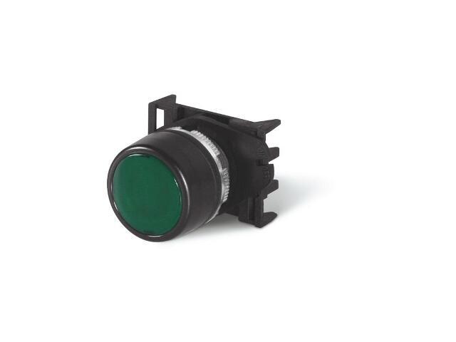 Przycisk bezpieczeństwa TOP22 sterowniczy - podświetlany - zielony Scame
