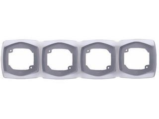 Ramka COMFORT poczwórna pozioma R-4XH.SR srebrny Polmark