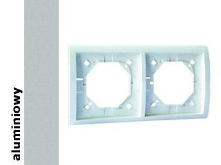 Ramka Classic 2x bryzgoszczelna z uszczelką MR2B/26 aluminium srebrny Kontakt Simon
