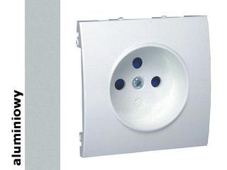 Pokrywa gniazda Classic z/u MGZ1P/26 aluminium srebrny Kontakt Simon