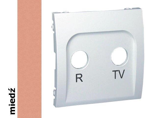 Pokrywa gniazda Classic RTV końcowego i przelotowego MAP/24 miedź Kontakt Simon
