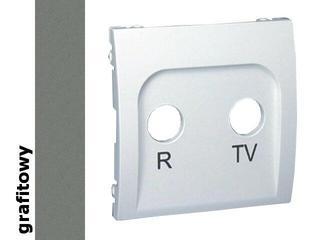 Pokrywa gniazda Classic RTV końcowego i przelotowego MAP/25 grafit Kontakt Simon