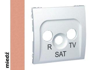 Pokrywa gniazda Classic RTV-SAT MASP/24 miedź Kontakt Simon