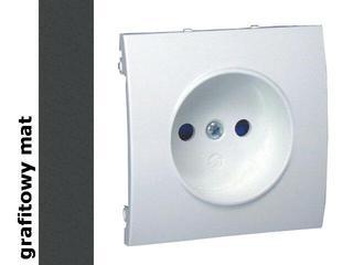 Pokrywa gniazda Classic b/u MG1P/28 matowy grafit Kontakt Simon