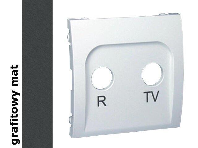 Pokrywa gniazda Classic RTV końcowego i przelotowego MAP/28 grafit mat Kontakt Simon