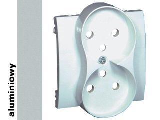 Pokrywa gniazda Classic z/u podwójnego MGZ2MP/26 aluminium srebrny Kontakt Simon