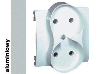 Pokrywa gniazda Classic b/u podwójnego MG2MP/26 aluminium srebrny Kontakt Simon