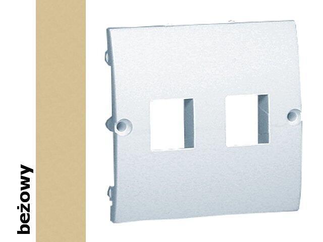 Pokrywa gniazda Classic z wkrętami MGK1P/12 beżowy Kontakt Simon