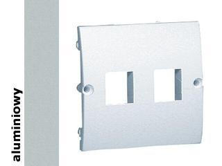 Pokrywa gniazda Classic z wkrętami MGK1P/26 aluminium srebrny Kontakt Simon