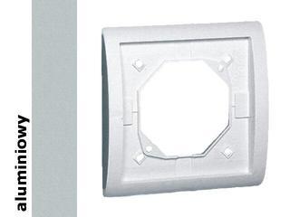 Ramka Classic 1x bryzgoszczelna z uszczelką MR1B/26 aluminium srebrny Kontakt Simon