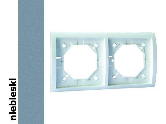 Ramka Classic 2x bryzgoszczelna z uszczelką MR2B/23 niebieski Kontakt Simon