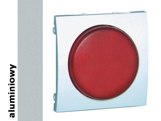 Pokrywa sygnalizatora świetlnego Classic moduł MSS/2.01/26 biały aluminium srebrny Kontakt Simon