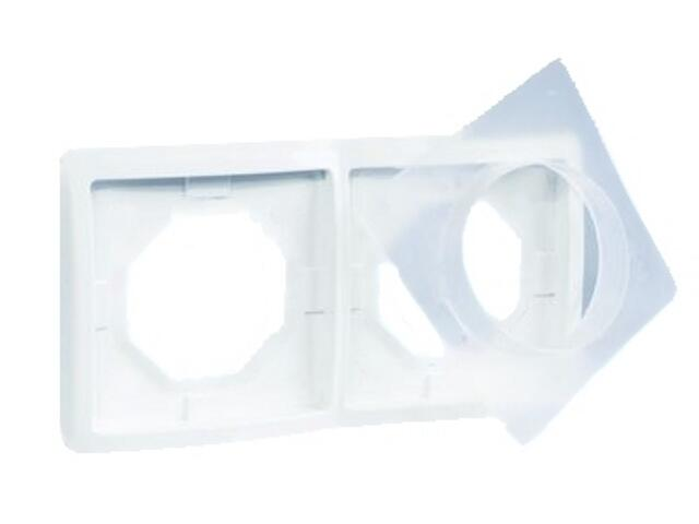 Ramka Basic 2x bryzgoszczelna BMR2B/11 biały Kontakt Simon