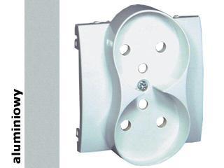Pokrywa gniazda Classic z/u podwójnego MGZ2MzP/26 aluminium srebrny Kontakt Simon