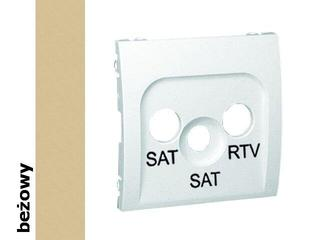 Pokrywa gniazda Classic RTV/SAT/SAT MAS2P/12 beżowy Kontakt Simon