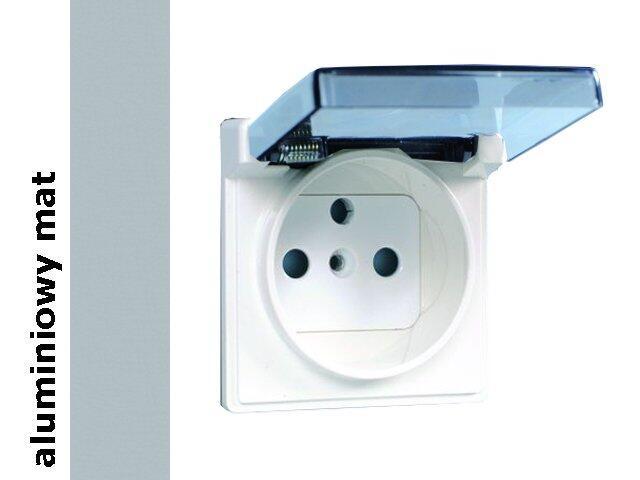 Pokrywa Simon 82 z/u i klapką dymną IP44 82068KD-33 aluminium mat Kontakt Simon