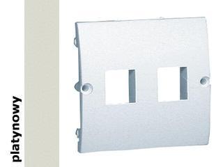 Pokrywa gniazda Classic z wkrętami MGK1P/27 platynowy Kontakt Simon