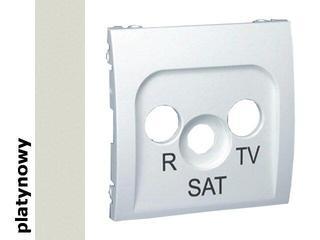 Pokrywa gniazda Classic RTV-SAT MASP/27 platynowy Kontakt Simon