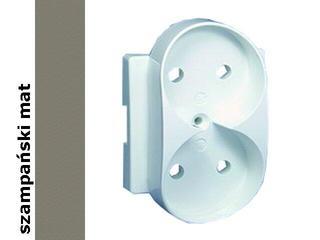 Ramka Simon 82 gniazda podwójnego b/u aluminium mat 82040P-33 Kontakt Simon