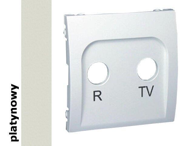 Pokrywa gniazda Classic RTV końcowego i przelotowego MAP/27 platynowy Kontakt Simon