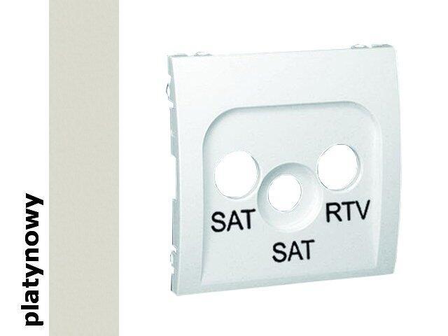 Pokrywa gniazda Classic RTV/SAT/SAT MAS2P/27 platynowy Kontakt Simon