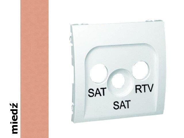 Pokrywa gniazda Classic RTV/SAT/SAT MAS2P/24 miedź Kontakt Simon