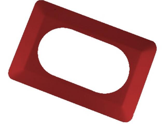 Ramka ścienna podwójna OSX-220 czerwona Zamel