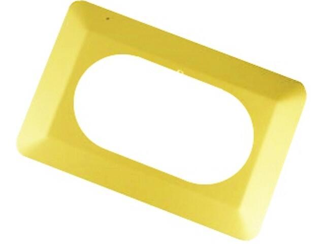 Ramka ścienna podwójna OSX-220 żółta Zamel