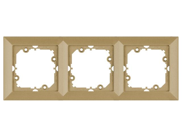 Ramka PERŁA potrójna RA-3P złoty Abex