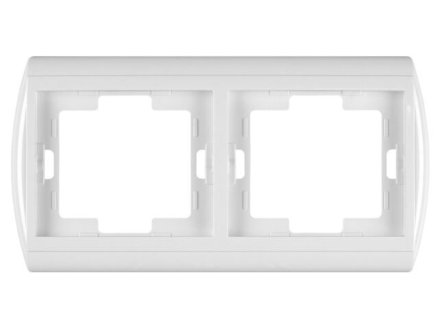 Ramka NOVA podwójna pozioma RA-2N biały Abex
