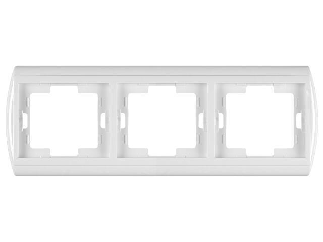 Ramka NOVA potrójna pozioma RA-3N biały Abex