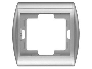 Ramka NOVA pojedyncza pozioma RA-1N srebrny Abex
