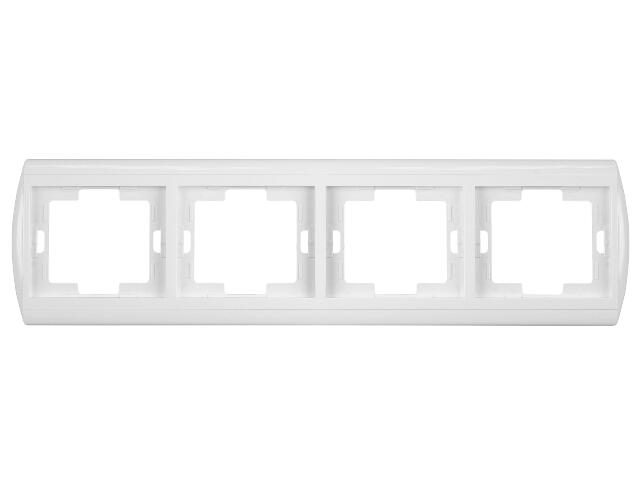 Ramka NOVA poczwórna pozioma RA-4N biały Abex