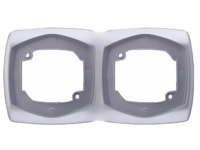 Ramka COMFORT podwójna pozioma R-2XH.SR srebrny Polmark