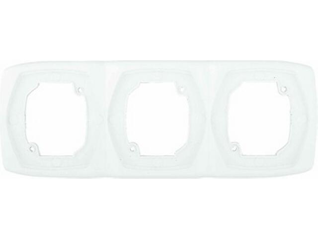 Ramka COMFORT potrójna pionowa R-3XV.BI biały Polmark
