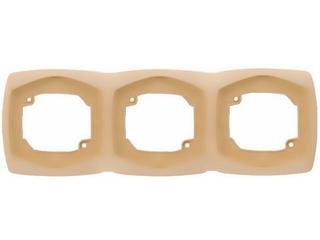 Ramka COMFORT potrójna pozioma R-3XH.CB ciemnobeżowy Polmark