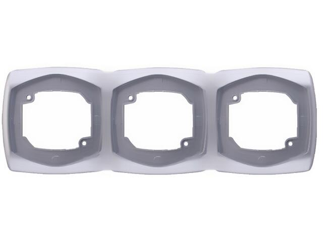 Ramka COMFORT potrójna pozioma R-3XH.SR srebrny Polmark
