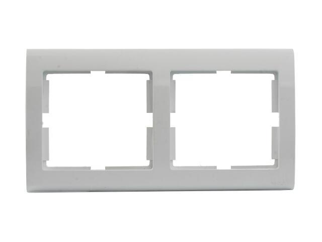 Ramka AURA podwójna pozioma biały Polmark
