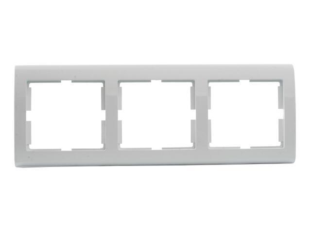 Ramka AURA potrójna pozioma biały Polmark