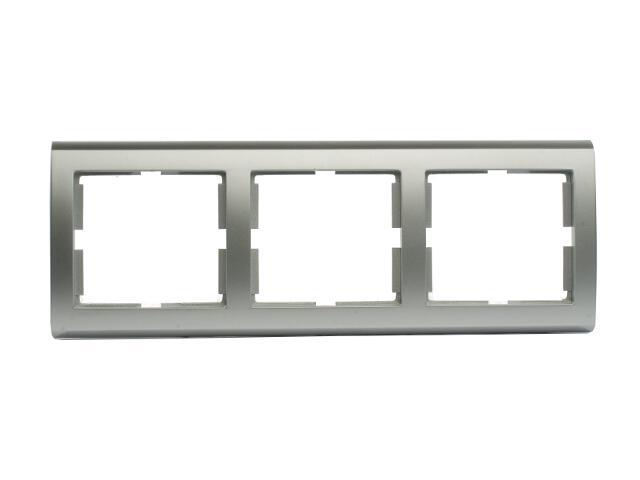 Ramka AURA potrójna pozioma srebrny Polmark