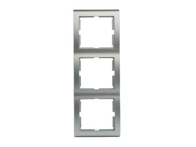 Ramka AURA potrójna pionowa srebrny Polmark