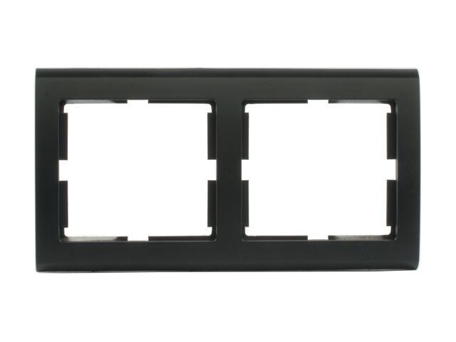 Ramka AURA podwójna pozioma czarny Polmark