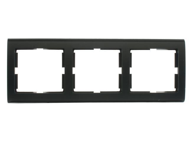 Ramka AURA potrójna pozioma czarny Polmark
