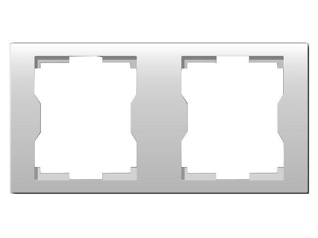 Ramka QUATTRO podwójna R 2H biała Elektro-plast N.