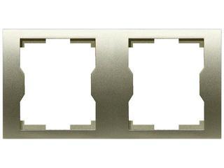 Ramka QUATTRO podwójna R 2H satynowy Elektro-plast N.
